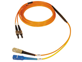Gigabit Ethernet Multimode Duplex, 62.5/125 Fiber cable, ST/SC, 3M