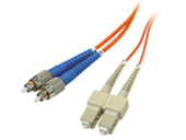 Multimode Duplex, 62.5/125 Fiber cable, FC/SC, 3M
