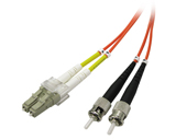 Multimode Duplex, 62.5/125 Fiber cable, LC/ST, 3M
