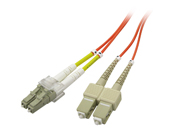 Multimode Duplex, 62.5/125 Fiber cable, SC/LC, 3M