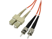 Multimode Duplex, 62.5/125 Fiber cable, ST/SC, 3M